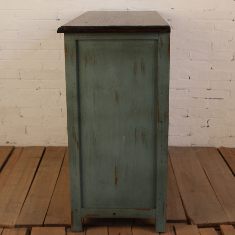 Rustic Wood Retro Storage Cabinet Old Craft Lockers Living Room ...