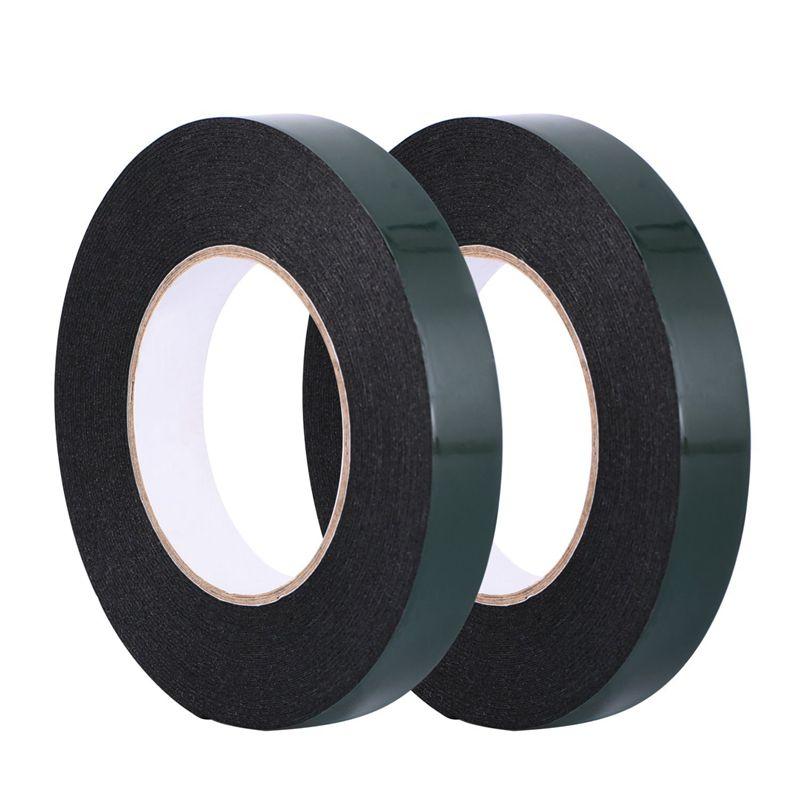 20 m (20mm) Double Sided Foam Tape Sponge Tape Waterproof Mounting Adhesive Tape Roll, Black