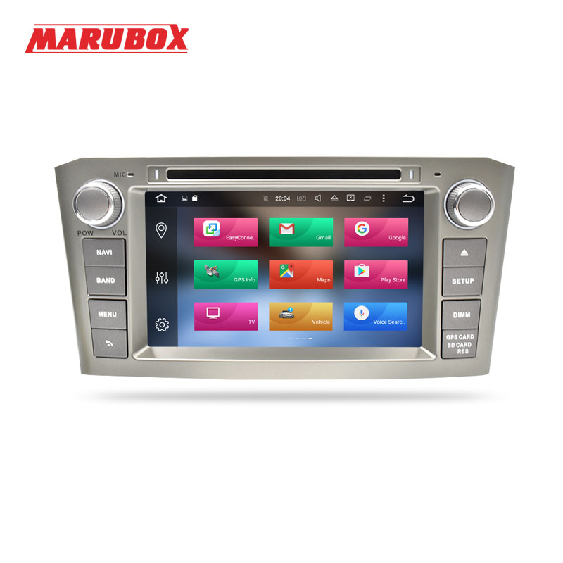 Marubox 7 Android 8 0 4GB RAM Car DVD GPS For Toyota Avensis T25 2004 2005