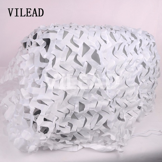 VILEAD 3M*3M Snow Camo Net paintball white Camouflage Mesh Hunting Camping Car Drop Jungle Netting