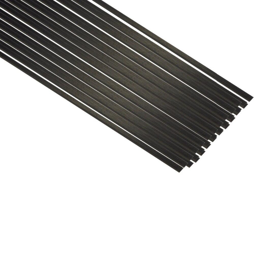 10pcs 0.5mmx3mmx500mm Carbon Fiber Strip Bar For RC Airplane Model