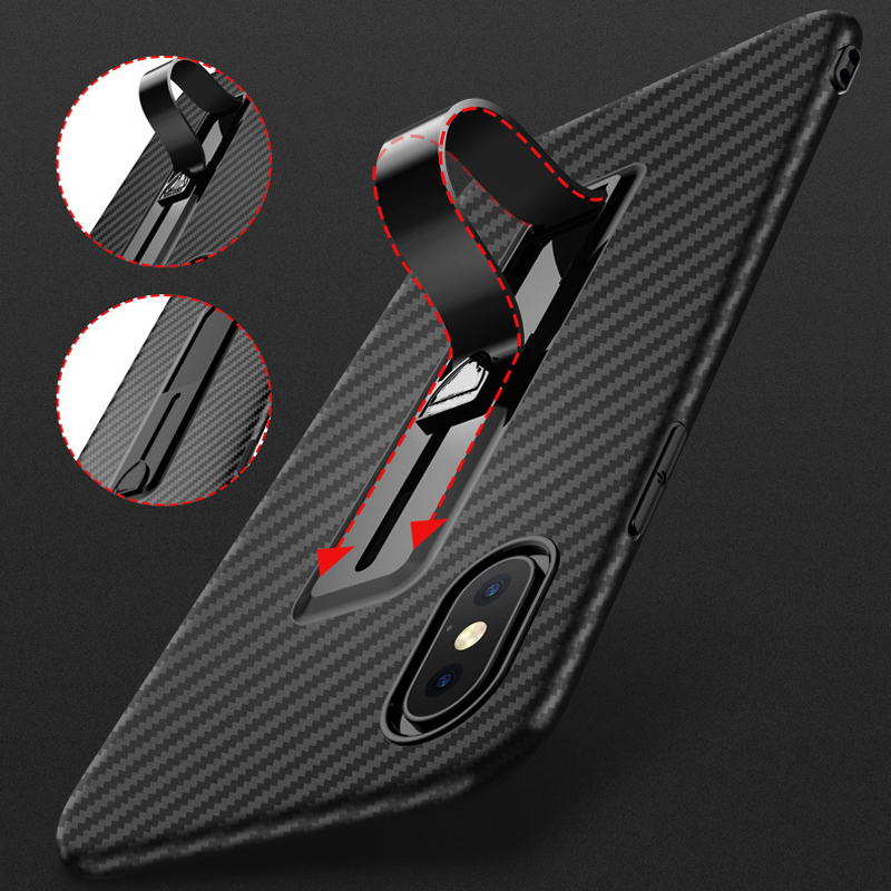 For iPhone Xs Max Xr X 8 7 Plus 6 6S <font><b>Case</b></font> Carbon Fiber Finger Stand Ring <font><b>Holder</b></font> Cover For <font><b>Samsung</b></font> Note 9 Note 8 <font><b>S9</b></font> S8 Plus <font><b>Cases</b></font> image