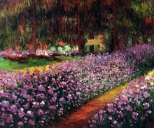 Garden at Giverny by Claude Monet Handpainted