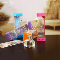 50ml Aroma Glass Bottle Wood Dry Flower Rattan Sticks No Fire Aromatherapy Gift Set Incense Sticks Essential Oil