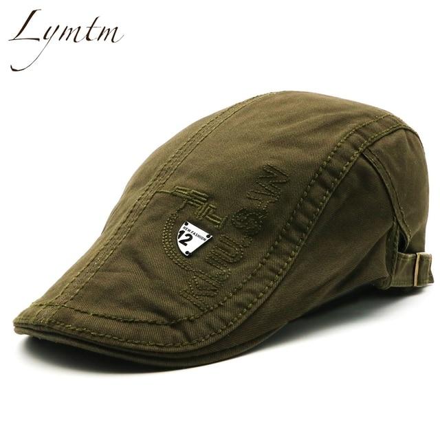 065e97ce5f3  Lymtm  2018 British Style Army Green Cabbie Hats Caps Newsboy Cap Irish  Newsboys Flat Caps For Men And Women
