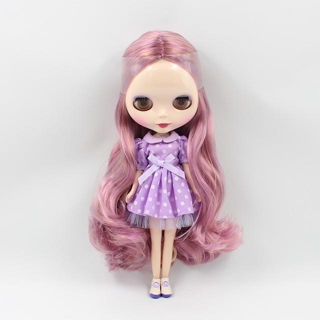 Factory Neo Blythe Doll Purple Hair Regular Body 30cm