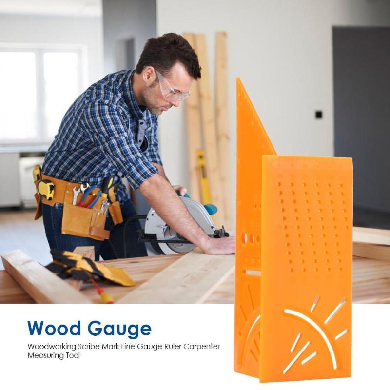 Woodworking Scriber Mark Line Gauge Caliper Ruler Carpenter Plastics Measuring Tool 215*72*64mm