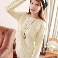 9 Colours Women Sweater Loose Casua Pullovers Fashion Casual Long Sleeve O Neck Twist Knitted Christmas