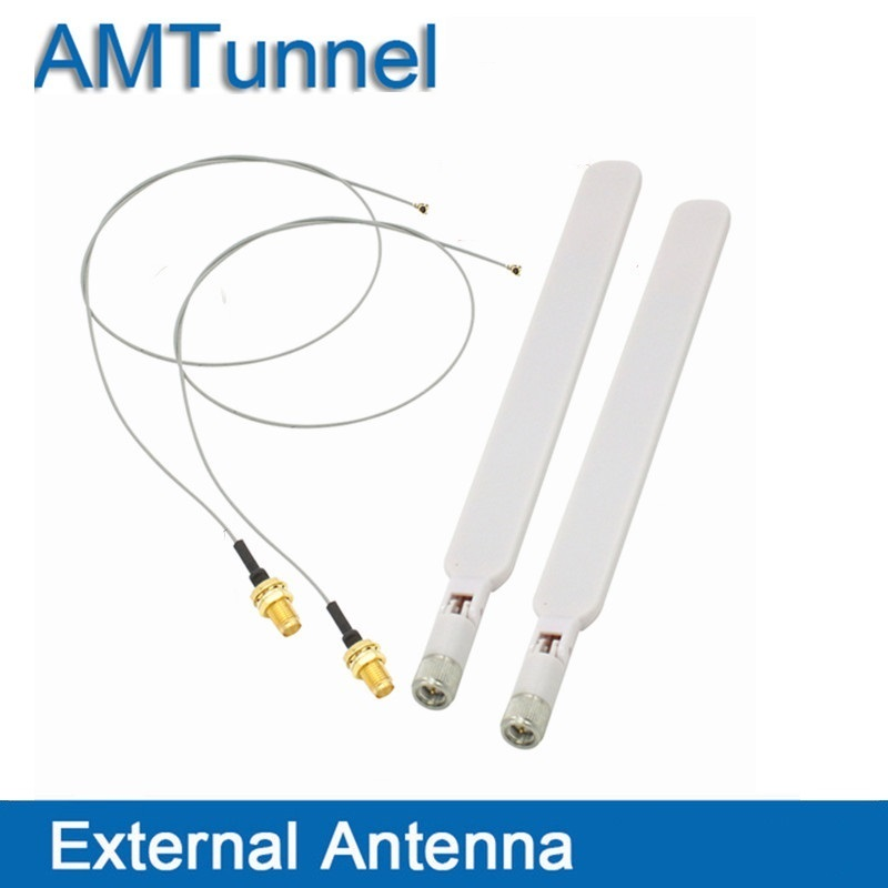 4G Antenna 2.4G wifi antenne 2 pcs with sma connector and 2 pcs Extension Cord UFL to RP SMA Connector Pigtail Cable