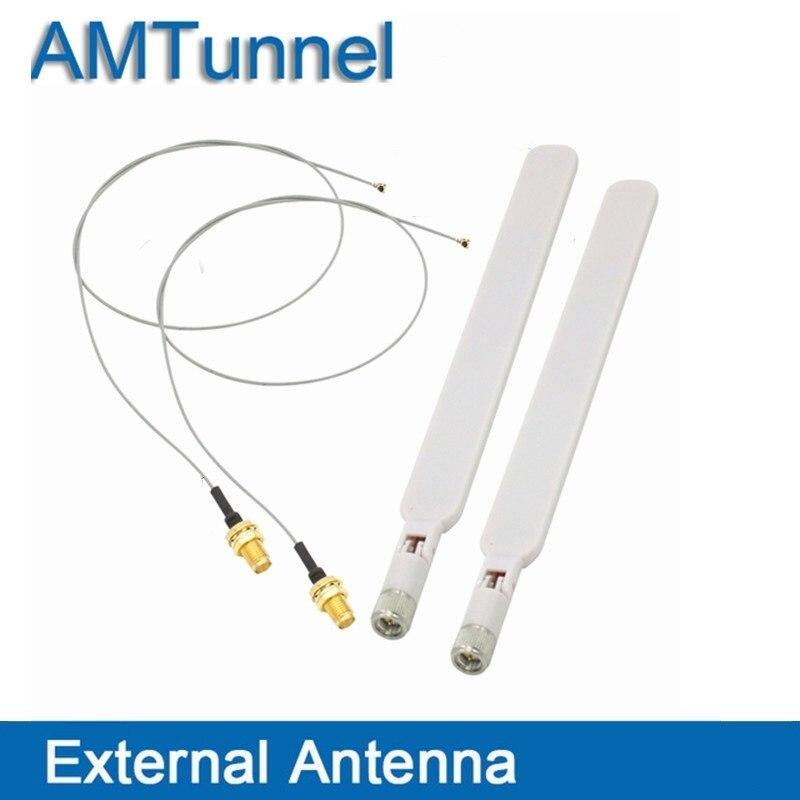 4g antena 2,4g Wi-Fi antenne 2 piezas con conector SMA macho de 2 piezas de extensión de cable UFL a RP SMA cable flexible para el router de módem de tarjeta de red