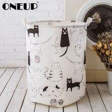 ONEUP большая корзина для хранения белья Водонепроницаемая корзина для грязной одежды корзина для мытья игрушек грязная одежда корзины для х...