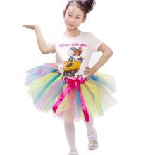 Hot Sale Fluffy Rainbow Tutu Baby Girl Tutu Skirt Children Kids Princess Pettiskirt Party Dance Ballet Tulle Skirts Jupe Fille