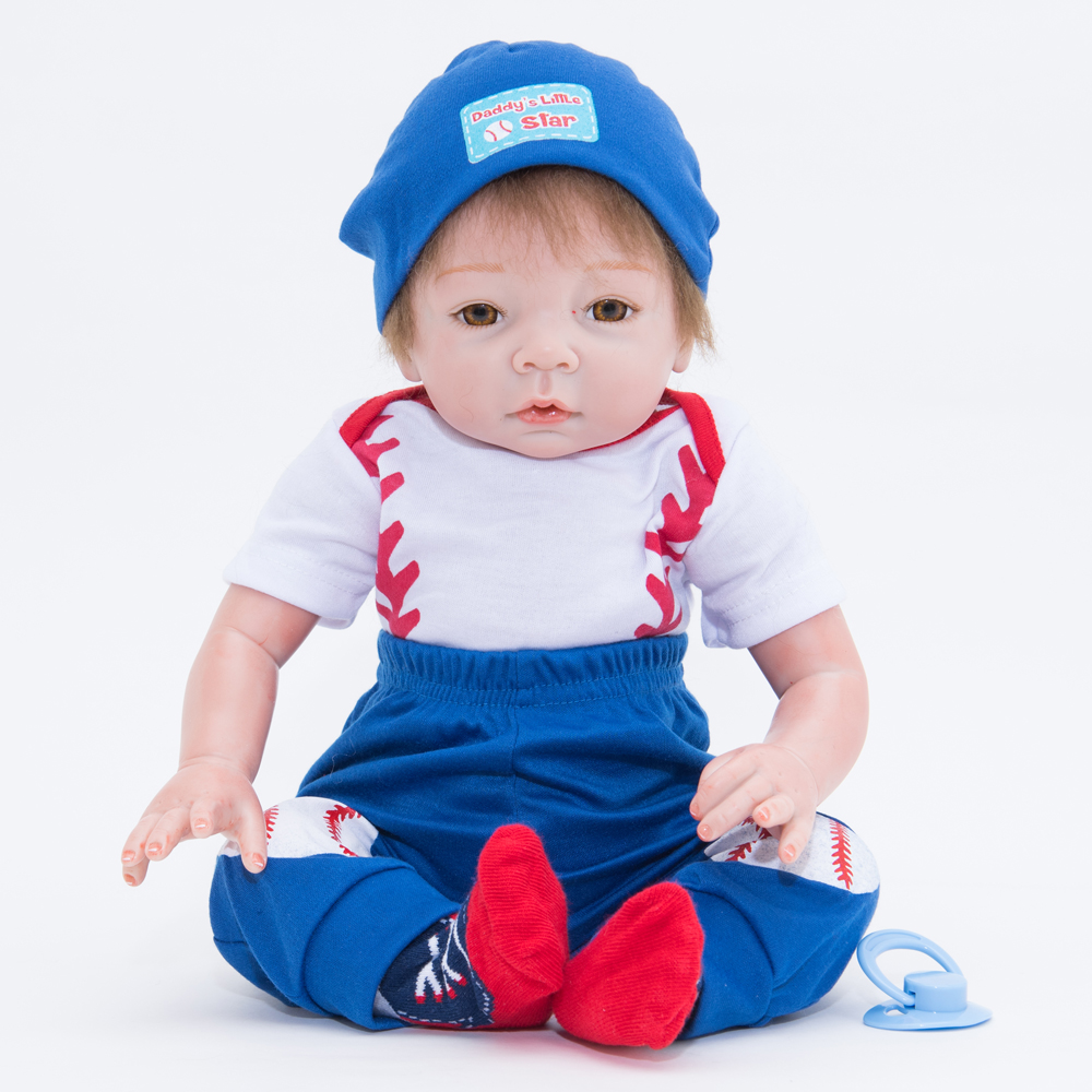 55cm Fashion Silicone Reborn Baby Dolls Handmade Realistic Lifelike Baby Reborn Doll Toys for Children Gift Action Figure Toys55cm Fashion Silicone Reborn Baby Dolls Handmade Realistic Lifelike Baby Reborn Doll Toys for Children Gift Action Figure Toys