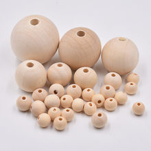 Pick 8/10/12/14/16/18/20mm Wood Spacer Bead Natural Color Eco-Friendly Wooden Beads DIY Jewelry Making handmade(China)