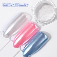 2G/Box Diamond Mermaid Pearl Matte Shining White DIY Nail Art Glitter Chrome Powder Dust