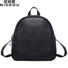 Nigedu Натуральная кожа Рюкзаки Женщины Теплые Kanken модный школьный рюкзак для девочек Mochila Брендовая Дизайнерская обувь плеча Сумки
