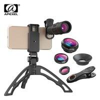 Apexel Evrensel 18X Zoom Telefoto Optik Lens Balıkgözü Geniş Açı Makro Lens ile tripod telefon tutucu iPhone Samsung Için huawei