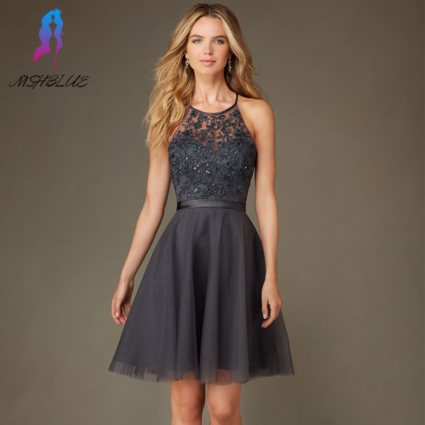 Compare Prices on Gray Cocktail Dresses for Women- Online Shopping ...