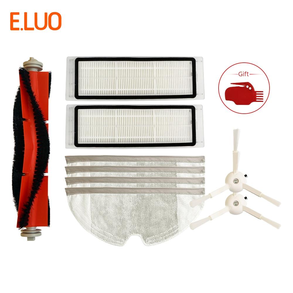 Vacuum Cleaner Acessórios Peças para Xiao mi mi Acessórios Peças Escovas Laterais Filtro de Vácuo Robô Inteligente Aspirador Escova de Rolamento