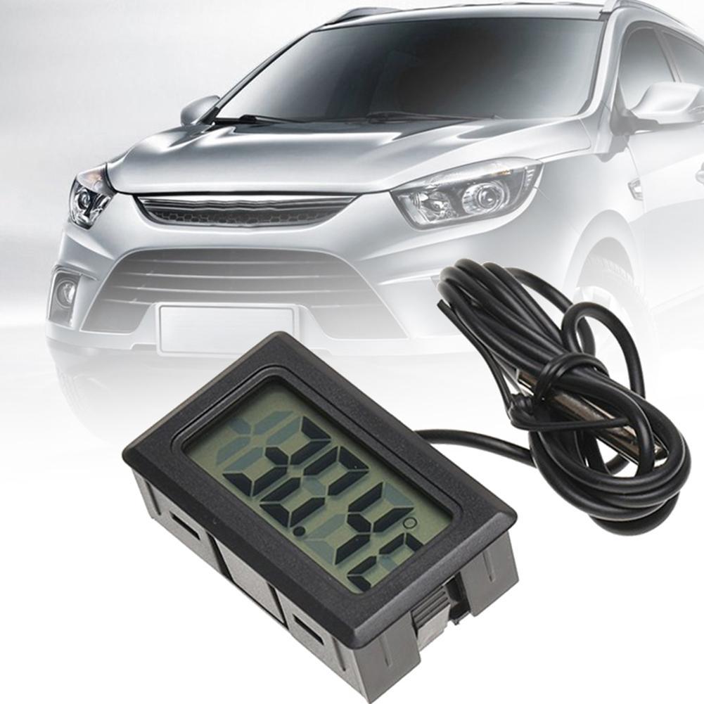 Car Interior Thermometer Digital LCD Display Fish Tank Temperature Meter Tool