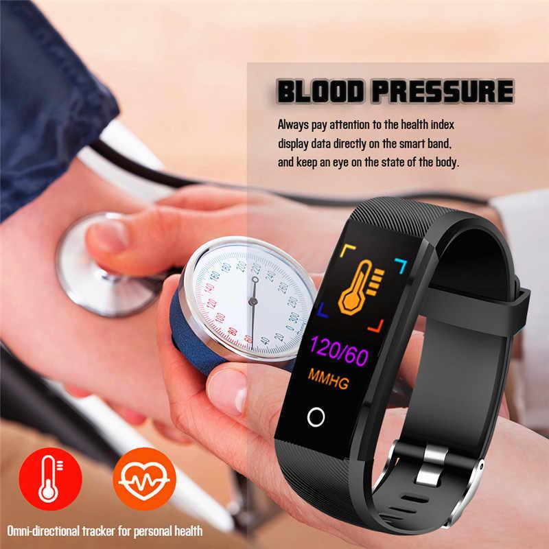 Смарт-браслет для мужчин фитнес-трекер Шагомер спортивный браслет кровяное давление монитор сердечного ритма женские Смарт-часы для IOS Android