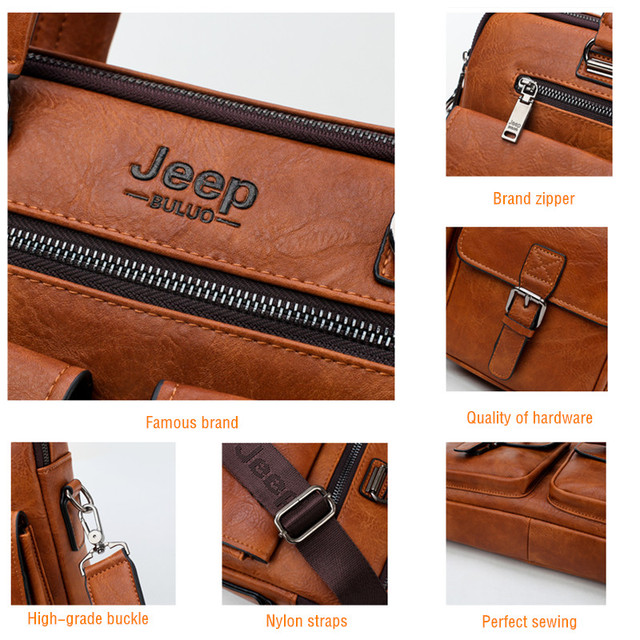 9c3165bdbf Sale. Home / Bags & Accessories / Men Bags / Office Bags / JEEP BULUO Men  Business Bag For 13'3 inch Laptop Briefcase Bags 2 in 1 ...