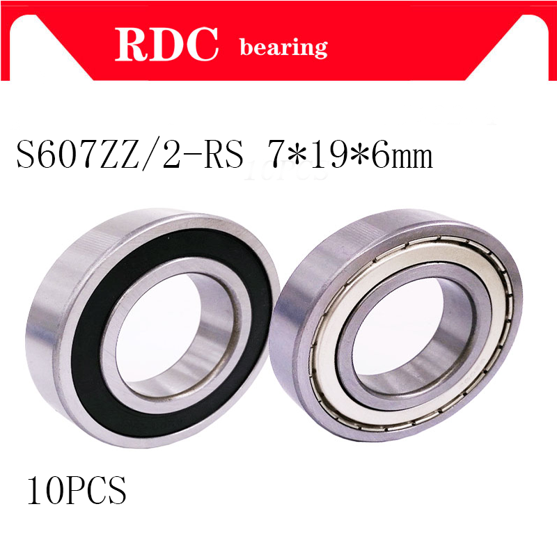 купить 10PCS 607ZZ 607Z 607 2RS High-quality deep groove ball 607 bearing 7x19x6mm ABEC5 miniature bearing 607 7*19*6 mm Free Shipping по цене 302.6 рублей