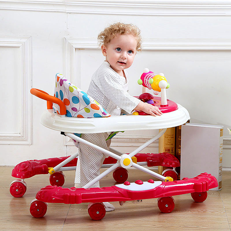 Newborn Baby Walker with Wheels Music Multifunction Toddler Walker Car Baby Boy Girl Anti Rollover Learn To Walk Assistant 6-18M цена