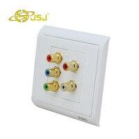 JSJ N86 902 + 603 + 610 AV Color Difference + RCA Audio Socket Component Video Audio Information Panel