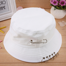 2017 Cool Unisex Iron Ring Folding Fisherman Hats Bucket Hat Hunting Fishing Outdoor Cap Hat  Street Hip Hop Dancer Hat