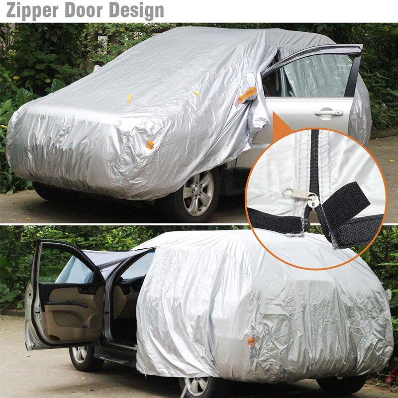 Buildreamen2 Imperméable bâche de voiture Intérieur Extérieur Soleil Neige Pluie Clapet Anti-Poussière Pour Opel Mokka Antara Zafira Vectra Astra - 4