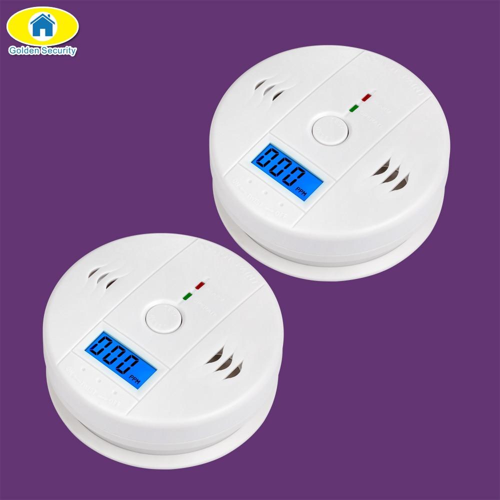 Goden Security 85dB Warning High Sensitive LCD Photoelectric Independent CO Gas Sensor Carbon Monoxide Poisoning Alarm Detector