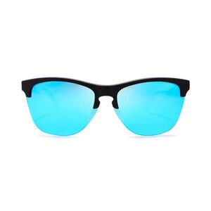 Image 4 - Мужские поляризационные очки KDEAM, спортивные антибликовые солнцезащитные очки в эластичной оправе, уличные очки с чехлом, Happy TR90