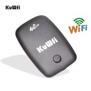 Image 3 - KuWFi Unlocked 4G LTE Wifi yönlendirici mobil taşınabilir 3G/4G Wifi yönlendirici SIM kartlı Router yuvası desteği LTE FDD B1/B3/B5