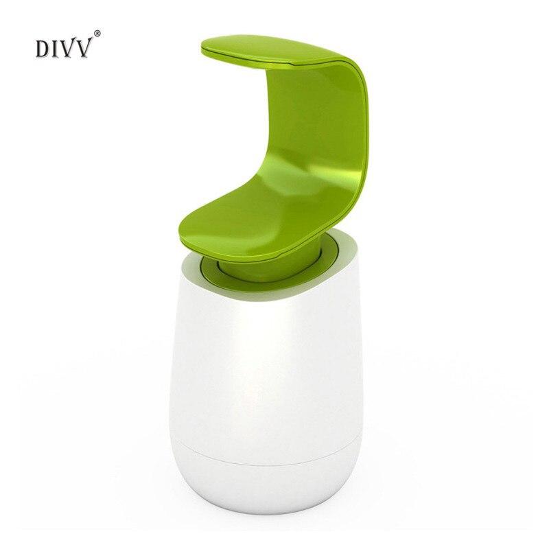 DIVV C-style Bottiglia di Sapone A mano back-premere Lavaggio Sapone Liquido Bottiglia di Sapone Liquido Bottiglia Del Supporto Del Contenitore Prodotti da bagno 1 PZ