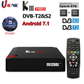 MECOOL KIII PRO DVB-S2 DVB-T2 декодер Android 7 1 ТВ коробка 3 Гб 16 Гб K3 Pro Amlogic S912 4K комбо телеприставка