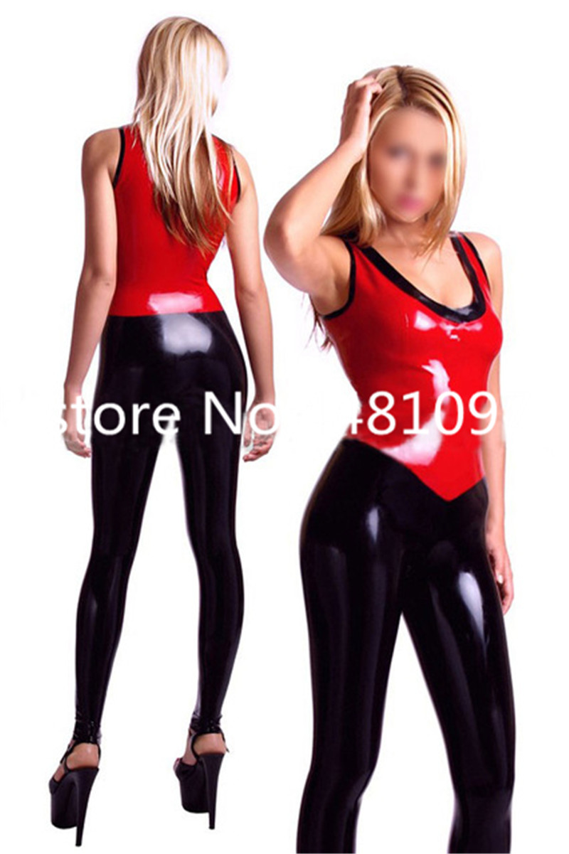 Fashion women Sexy fancy latex catsuit skinny clothes high quality nightclub party costume for adult plus