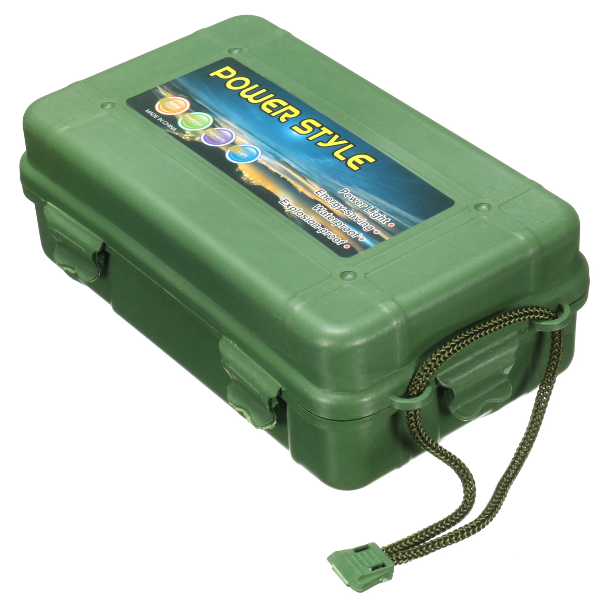 Jiguoor 202x121x65mm Outdoor Anti Fall Green Plastic Storage Box For Flashlight Light Torch Lamp Battery Charger Case Tools c1cy plastic hanging storage box green