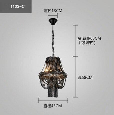 American Loft Style Heavy Chains Droplight Edison Industrial Vintage ...