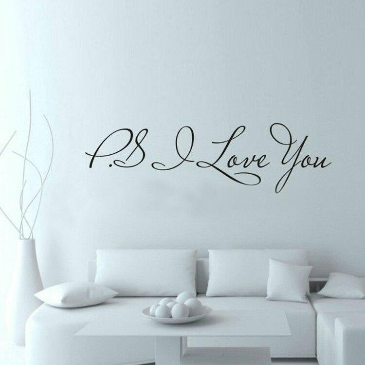 58*15 cm PS I Love You Pared Arte Decal Decoración e Inspiración Cotizaciones Do