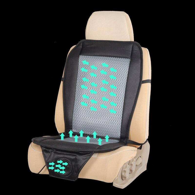 12 v air de voiture coussin de voiture d'été cool ventilé sèche-cheveux de voiture coussin de siège Souple respirant sièges de voiture