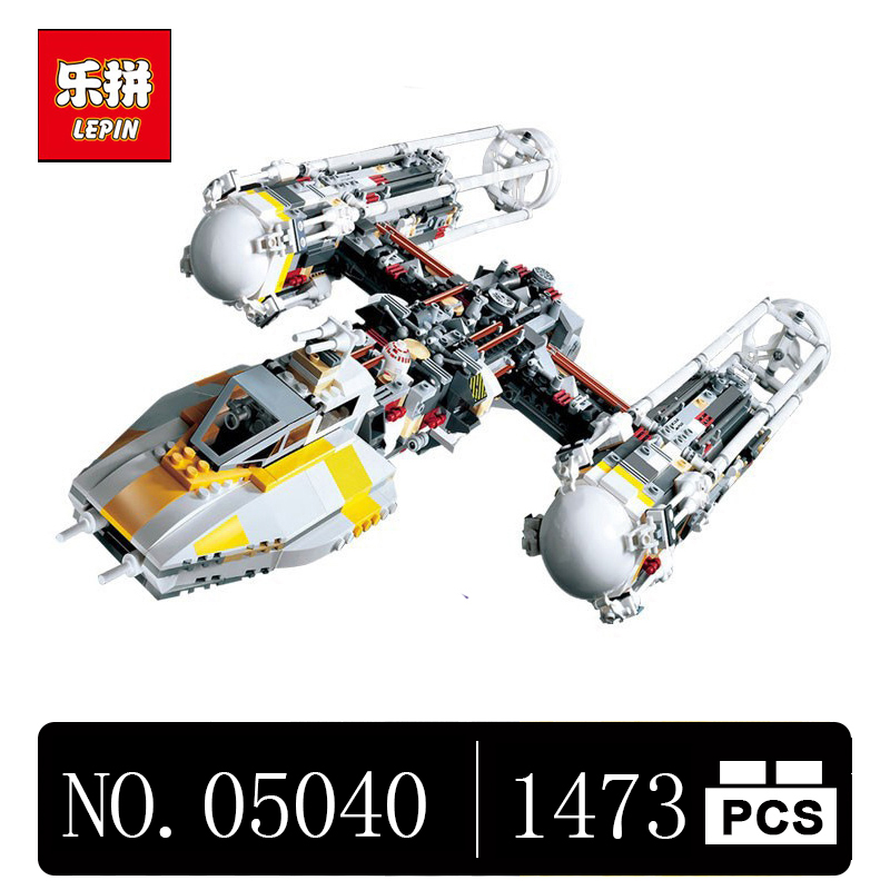 DHL Lepin 05040 1473Pcs Star Series Wars Y Star wing Attack fighter Building Assembled Block Brick Toy Compatible 10134 lepin 05040 y attack starfighter wing building block assembled brick star series war toys compatible with 10134 educational gift