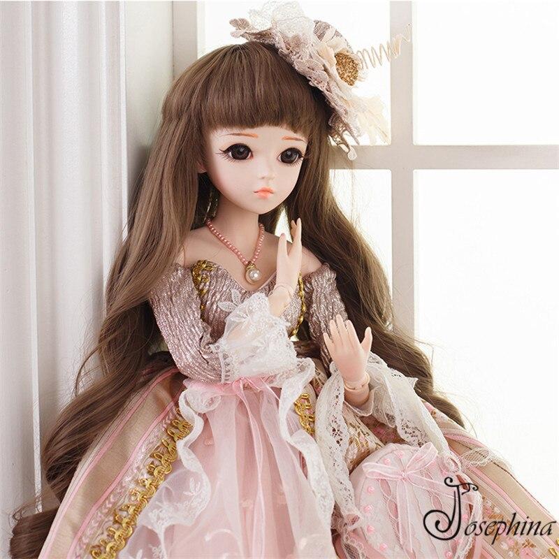 S9-avrila 1/3 BJD жозефине-DORIS BJD Куклы с Макияж одежда реалистичные жив модная одежда для девочек игрушки куклы новый подарок игрушка