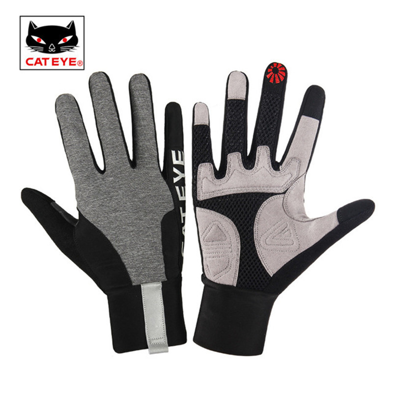 CATEYE Skiing Gloves Touch Screen Gel Full Finger Snowboarding Cycling Gloves Sport Keep Warmer Thick Shockproof Bicycle Gloves стоимость