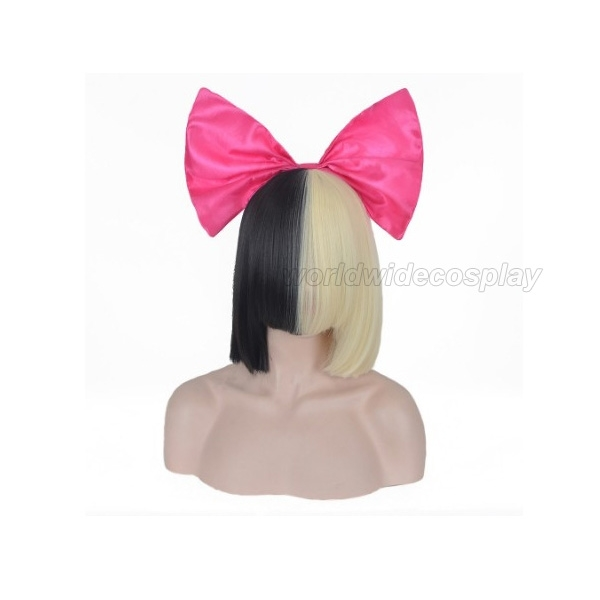 Sia This is acting Mixed Colors Fashion Wig Free Shipping for Halloween and Christmas