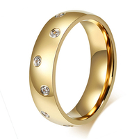 Hot Sale High Quality Classic Western Design Vintage 18k Gold Plated Fashion Cubic Zirconia Diamonds Female