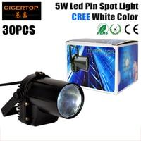 By Fedex 30pcs Lot 5W Cree LED Pin Spot Light LED DJ Stage Spot Effect Light