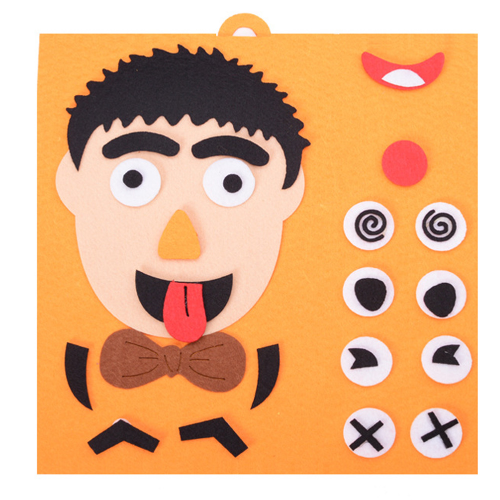 Educational Toy Facial Expression DIY Toys Gifts Cloth Fabric Learning Kids Children Funny Early Childhood Emotion Change