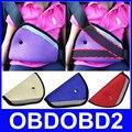 3 Cores Opcionais Ajustador Do Cinto de segurança Do Carro Crianças Cinto De Segurança Criança Triângulo Estofamento Protetor fixador Necessidade de Viagem Fácil de Instalar