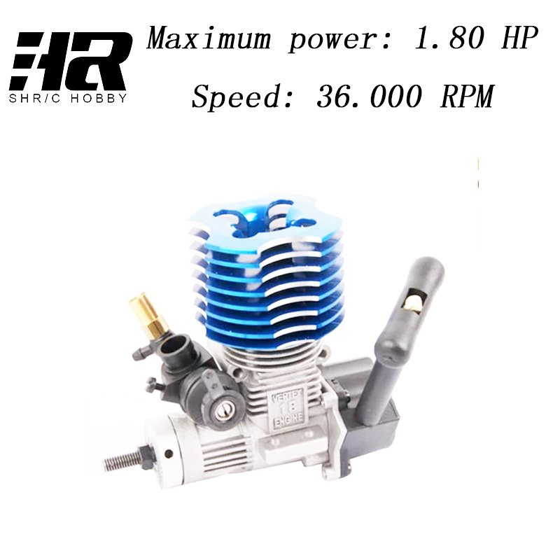Free shipping RC car 1/10 HSP 02060 BL VX 18 Engine 2.74cc Pull Starter blue for RC 1/10 Nitro Car Buggy Truck 94122 94166 94188 двигатель super tigre 18 nitro купить